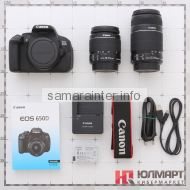 зеркальный фотоаппарат Canon EOS 650D Kit EF-S 18-55mm IS + 55-250mm IS Black